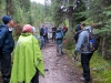 Group hiking to Stanley Glacier, Kootenay National Park