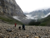 Looking for Burgess Shale fossils, Stanley Glacier, Kootenay National Park