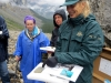Warden presents rare Burgess Shale fossils, Stanley Glacier, Kootenay National Park