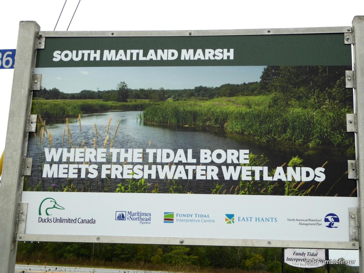 Area around Burntcoat Head Park, Nova Scotia, Tidal bore