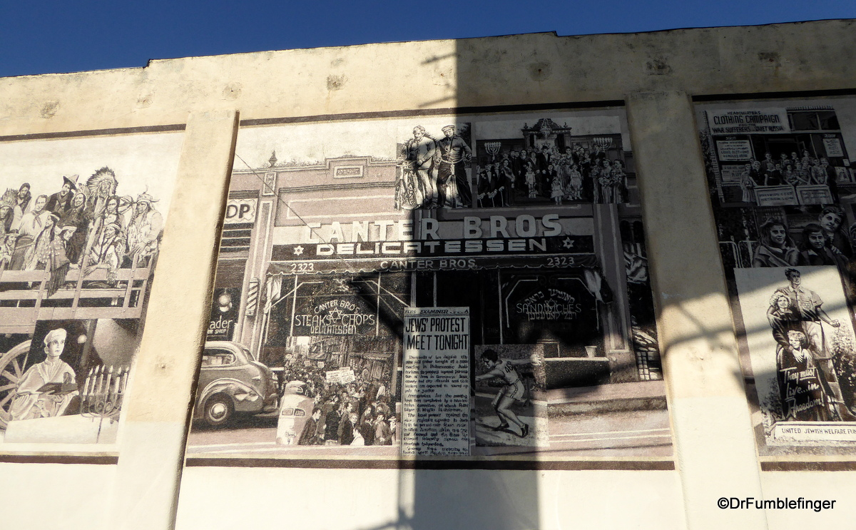 Wall mural, Canter's Deli, Los Angeles