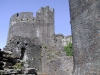 Detail of the castle complex, Caerphilly, Wales