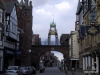 Old Clock, City Gates and street, Chester