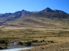The dry hills to the east of El Chalten
