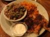 Jestine's Restaurant, Charleston. Okra Gumbo, fried rice, blackened chicken breast