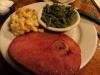 Jestine's Restaurant, Charleston. Ham, mac and cheese, green beans