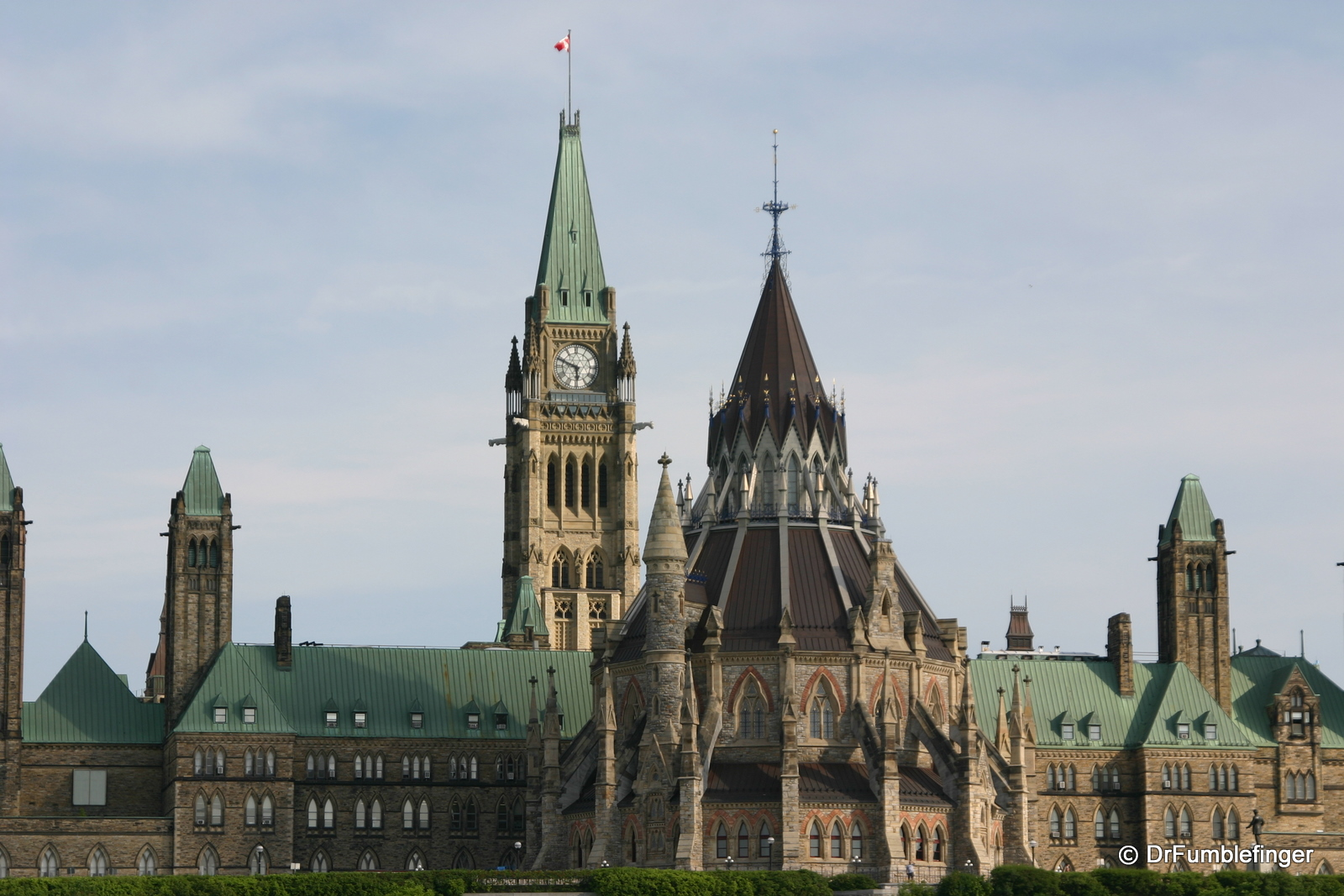 Parliament Hill, Ottawa. The Library is in the foreground.