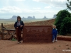 Views of Monument Valley, from Gouldings, with my wife Sylvia and son Bryan
