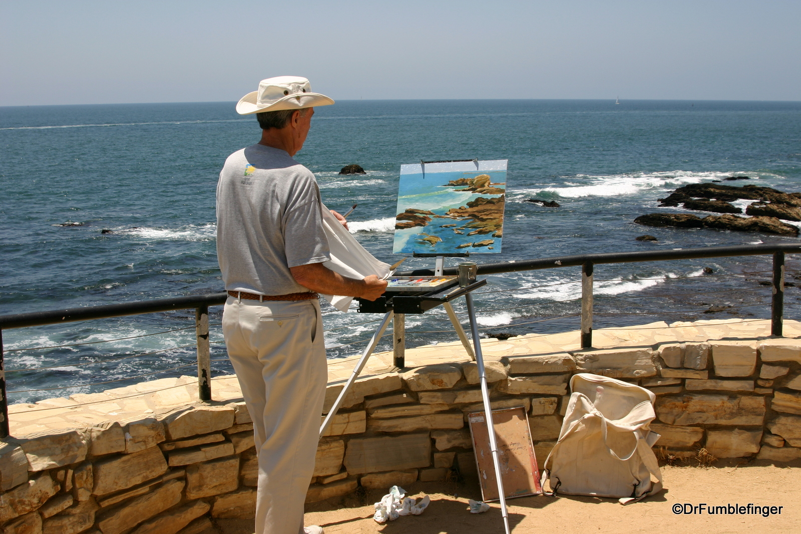 Artist at Crystal Cove, Newport Beach, California