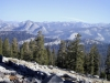 Views of the High Sierra from Ostrander Lake Trail
