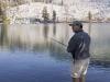 Fishing at Ostrander Lake, Yosemite NP