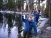 Having fun at Ostrander Lake, Yosemite NP