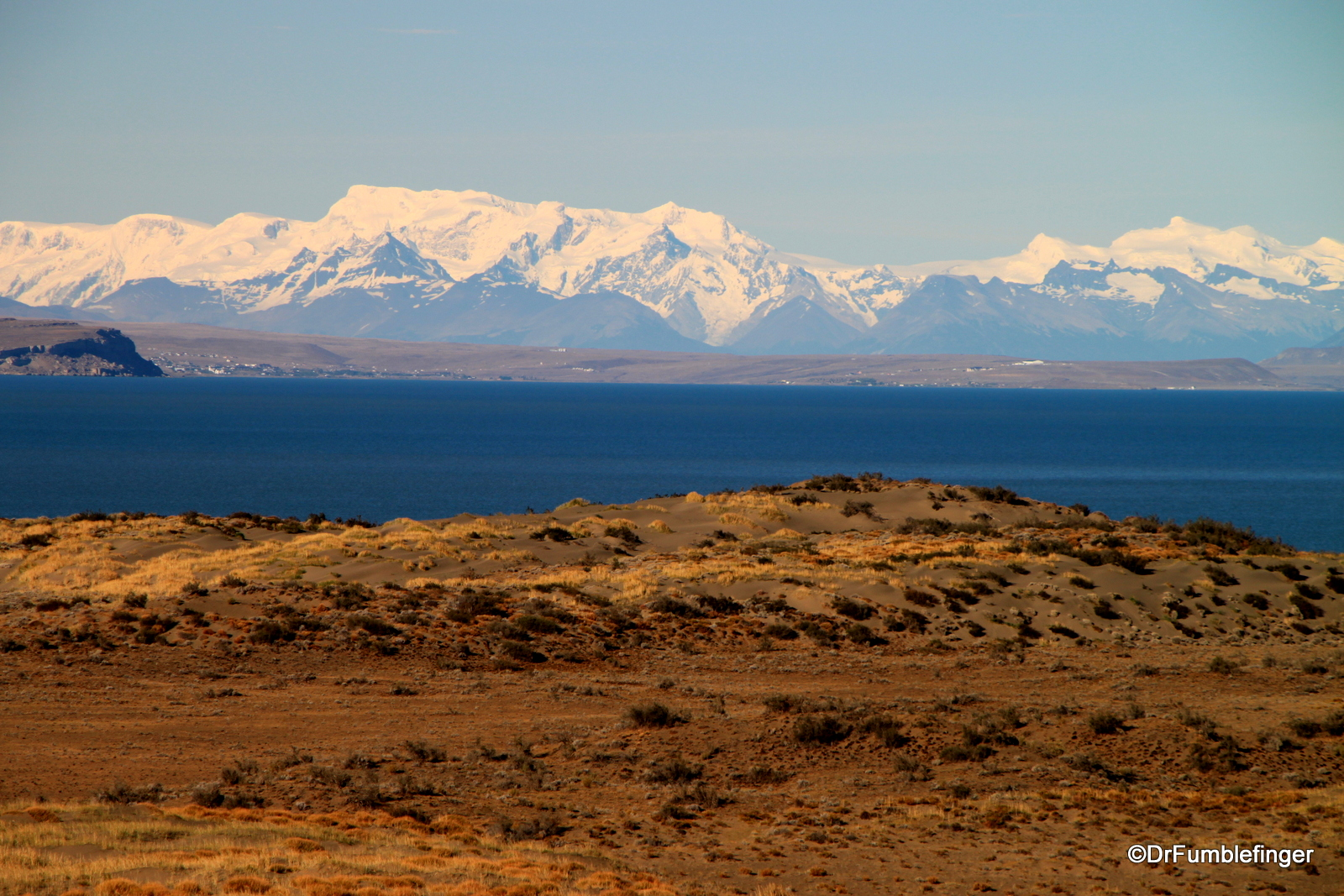 Andes viewed over Lago Argentino