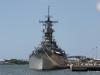 USS Missouri viewed from the USS Arizona Memorial