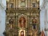 Buenos Aires Recoleta Cemeteryand Iglesia Nuestra Senora del Pilar tower.  Front Altar 0100