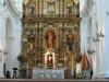 Buenos Aires Recoleta Cemeteryand Iglesia Nuestra Senora del Pilar tower.  Front Altar 0101
