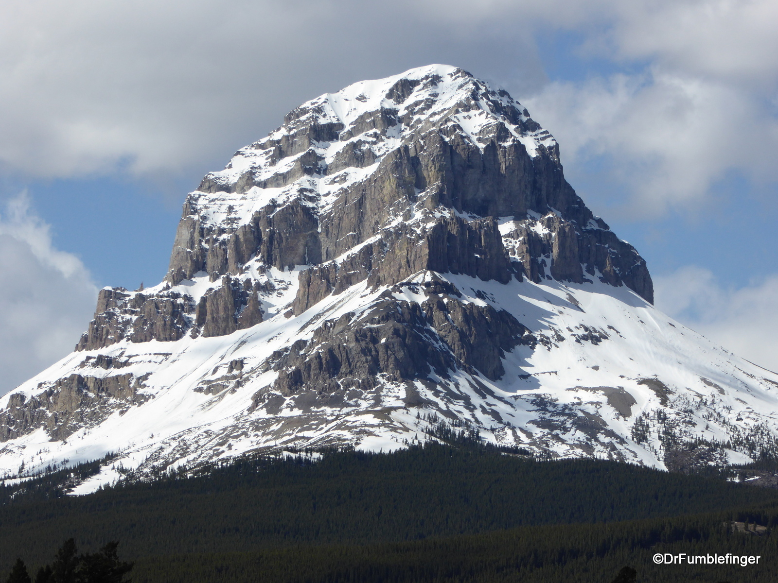 Crowsnest Mountain, Alberta, in the Spring