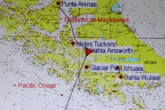 Map of our journey to Ainsworth Bay on the Australis