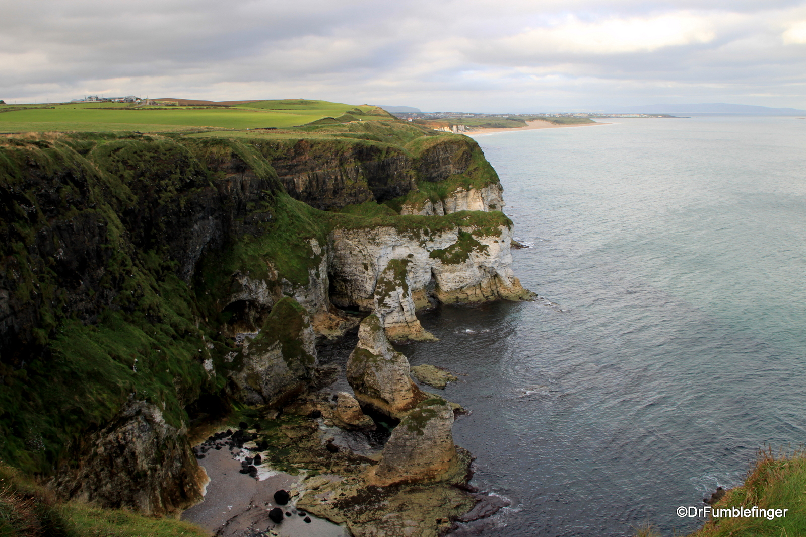 Antrim coast viewed from Dunluce Castle