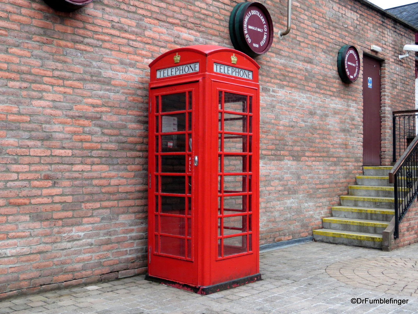 Bushmills Distillery, phone booth