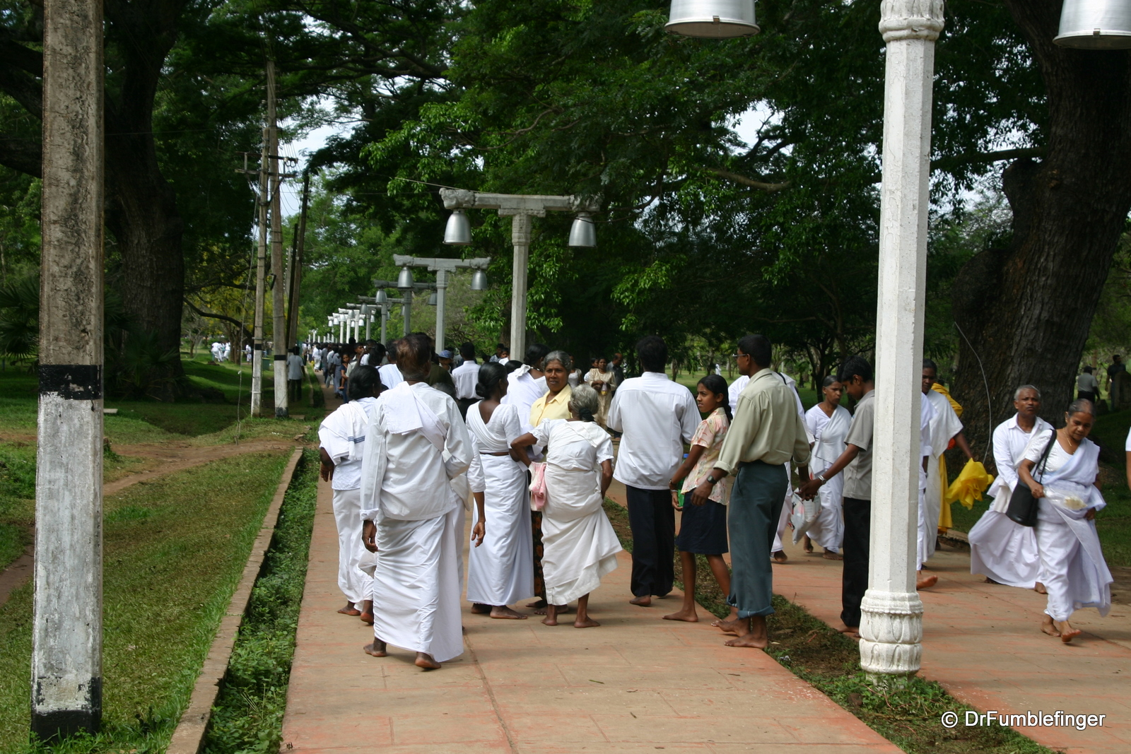 Anuradhapura -- Pilgrims on Vesak