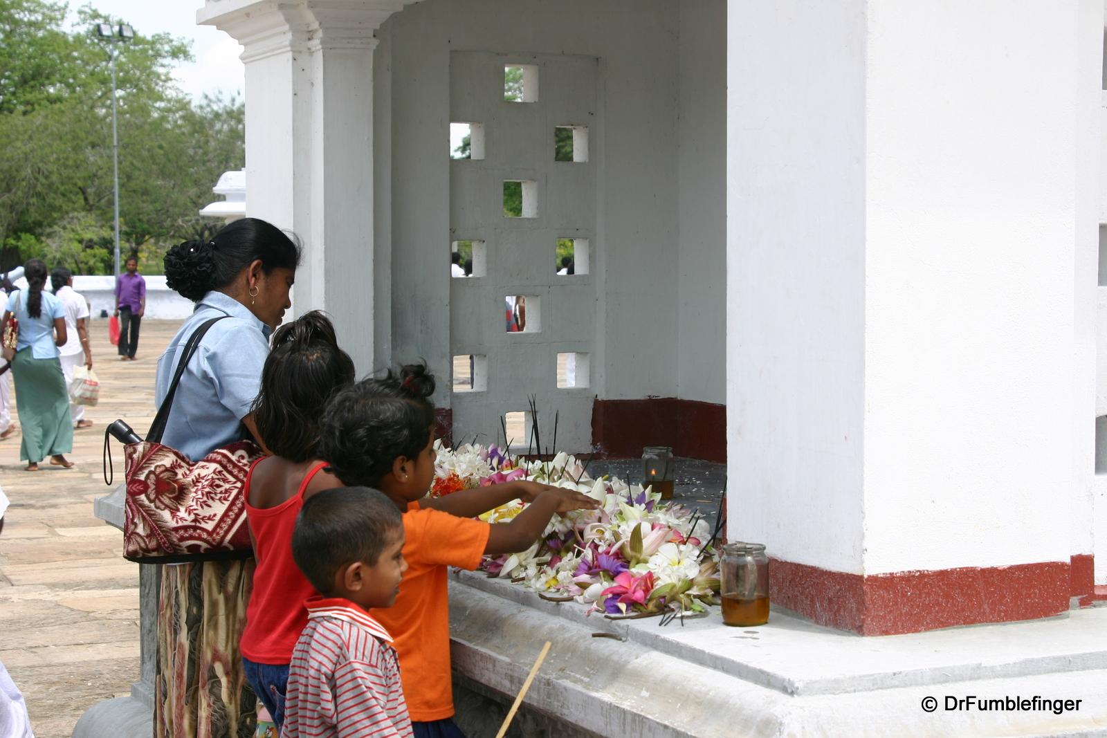 Anuradhapura -- Pilgrims praying