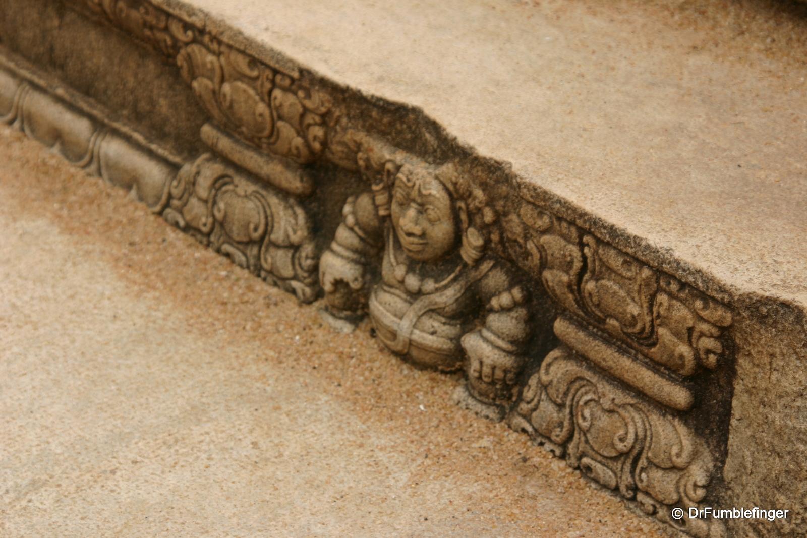 Anuradhapura -- Carving into step