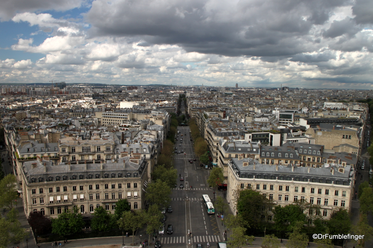 Views from the Roof of the Arc de Triomphe