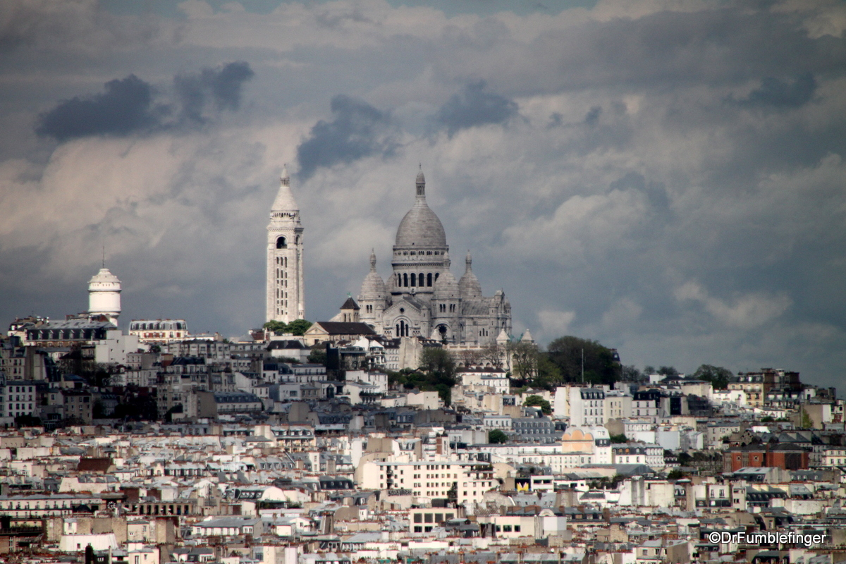 Views from the Roof of the Arc de Triomphe (Sacre Couer)
