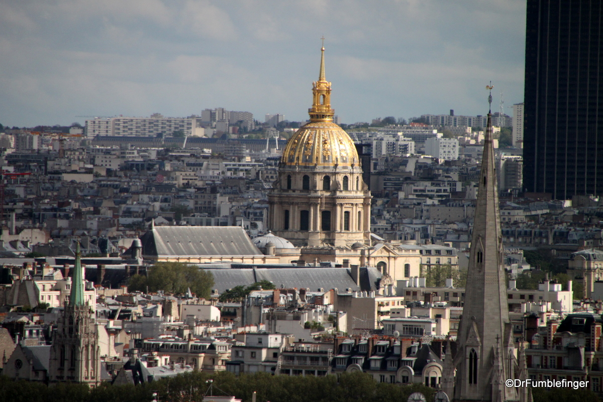Views from the Roof of the Arc de Triomphe (Invalides)