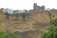 Hilltop location of Arcos de la Frontera, Spain