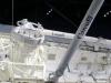 Atlantis' cargo bay and robotic arm