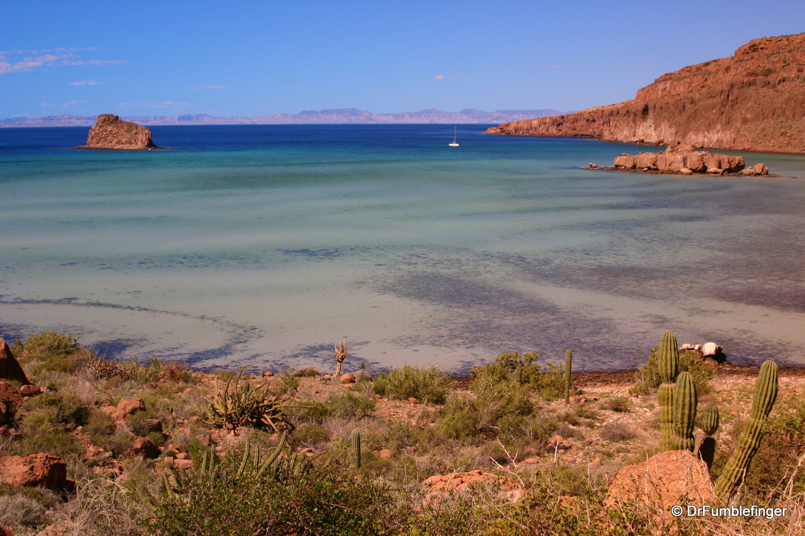 Isla Espiritu Santo, views of Sea of Cortez