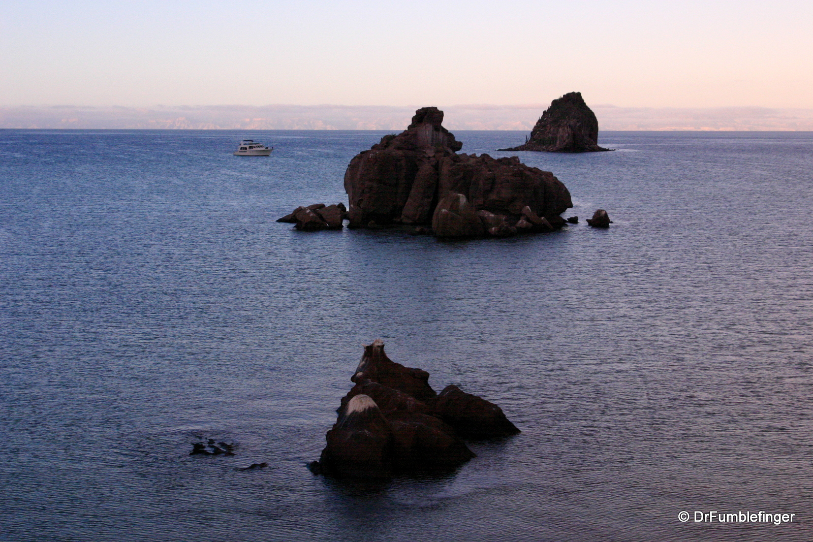 Dawn view of Sea of Cortez.