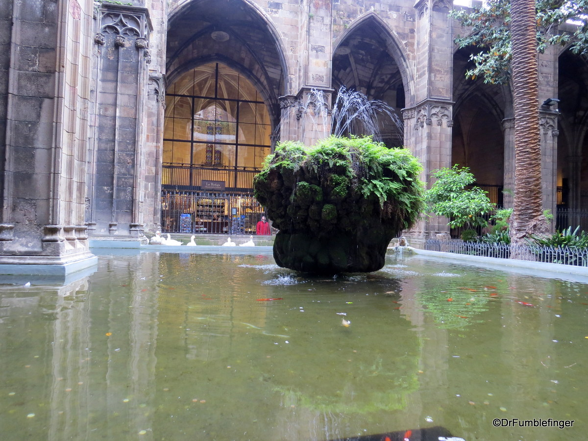 Fountain in the Cloister, Barcelona Cathedral