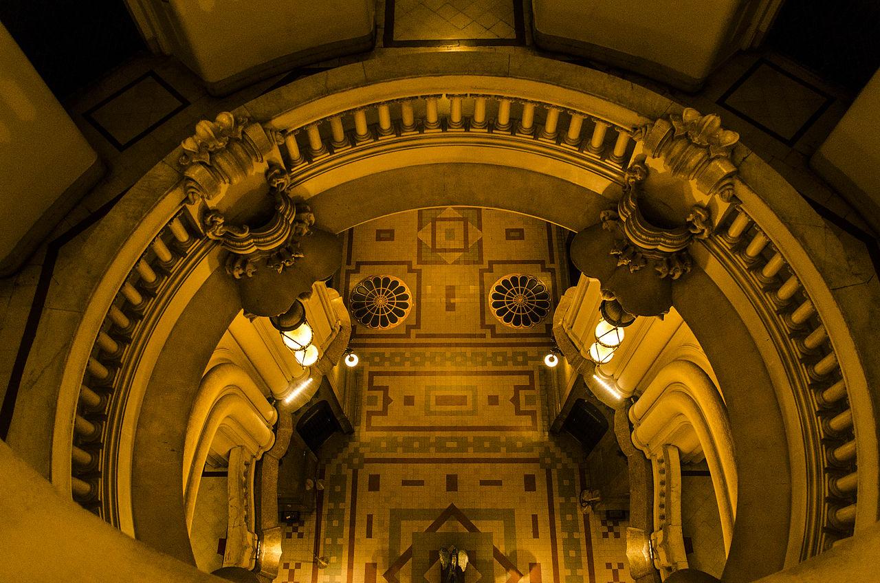 Interior, Palacio Barolo, Courtesy Wikimedia and Kaled Naya