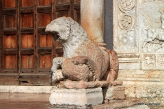 Guardian Lion at the Entrance to the Church of San Zeno, Verona