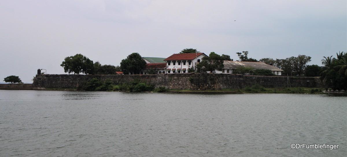 View of Batticaloa Fort across the Lagoon