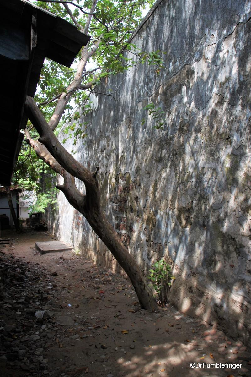 Interior wall of the Batticaloa Fort