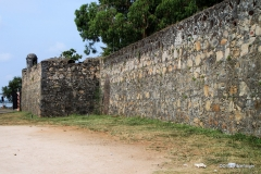 Wall along the entrance to the Batticaloa Fort