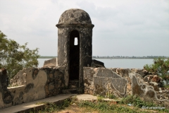 Watch tower atop the walls of Batticaloa Fort