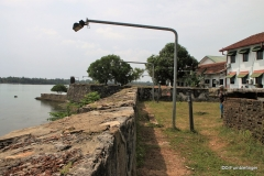 Exterior walls and lagoon, Batticaloa Fort