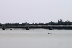 View from Batticaloa Fort (bridge and fisherman)