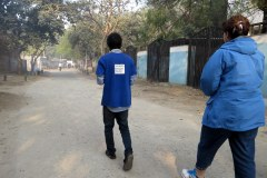 Walking to the SBT Shelter for Boys, Delhi