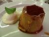 Flan for dessert! San Telmo