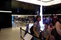 Queing for the elevators to the observation decks of the Burj Khalif