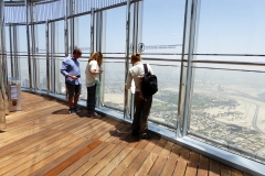 Views from the 148th floor of the Burj Khalif