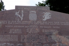 10th Mountain Division Memorial, Tennessee Pass
