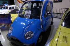 Tiny electric car used in the 2006 movie Clear History.