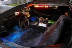 Always popular, the Back to the Future DeLorean, one of many made....